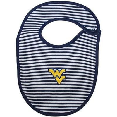 West Virginia Infant Striped Bib