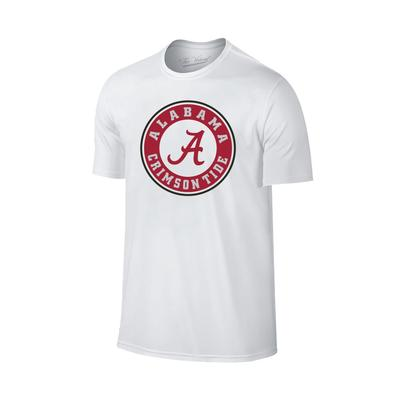 Alabama Giant Circle Logo T-Shirt WHT
