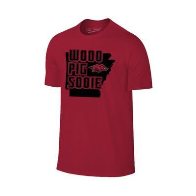 Arkansas Wooo Pig Sooie State T-shirt