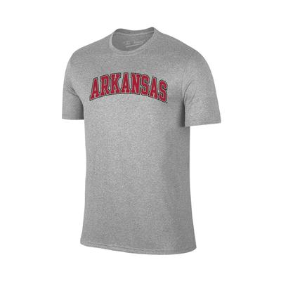 Arkansas Basic Arch Logo T-Shirt GREY