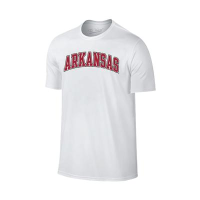 Arkansas Basic Arch Logo T-Shirt WHT