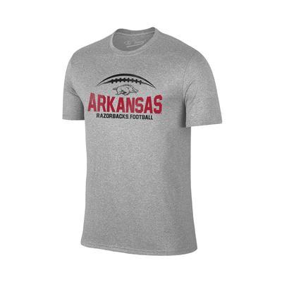 Arkansas Football Laces T-shirt GREY
