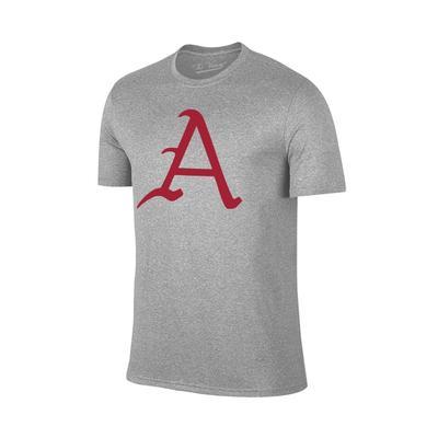 Arkansas Giant A Logo T-Shirt GREY