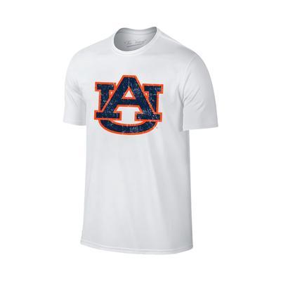 Auburn Giant AU Logo T-shirt WHT