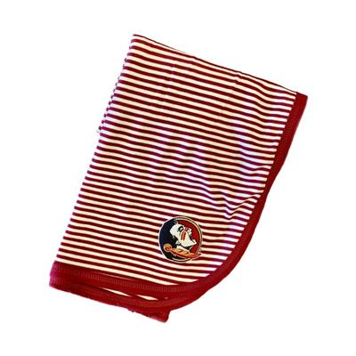 Florida State Striped Knit Blanket