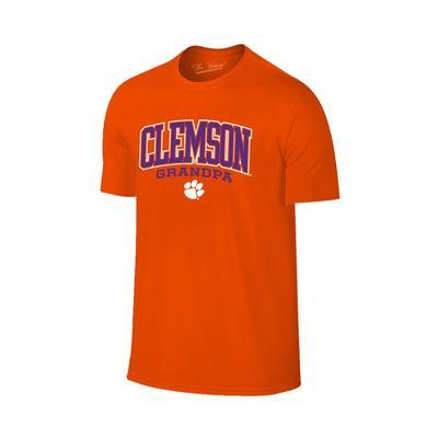 Clemson Arch Logo Grandpa T-shirt
