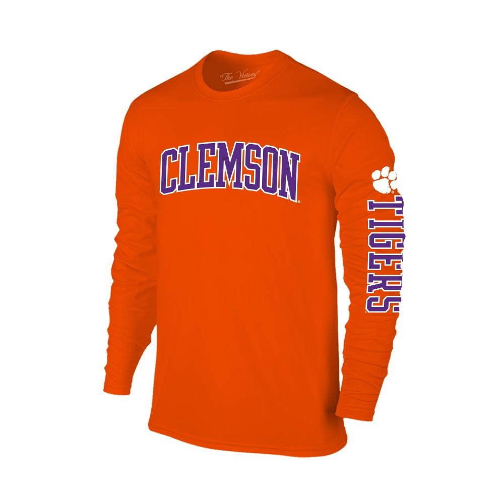 Clemson Arch Logo 2 Location Long Sleeve Tee