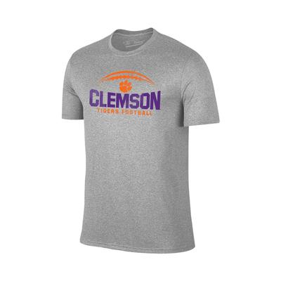 Clemson Football Laces T-shirt GREY