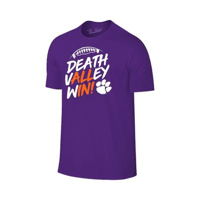 Clemson Death Valley Win (All In) T-shirt PURPLE