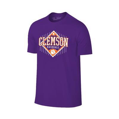 Clemson Baseball Field Logo T-shirt PURPLE