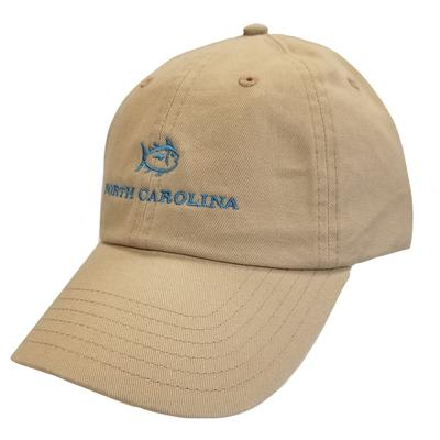 North Carolina Southern Tide SkipJack Adjustable Hat KHAKI