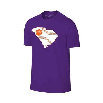 Clemson State Outline Baseball Laces T-shirt