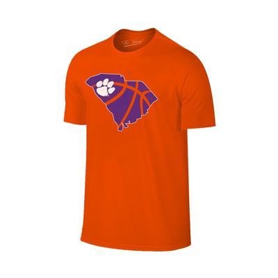Clemson State Outline Basketball T-shirt ORG