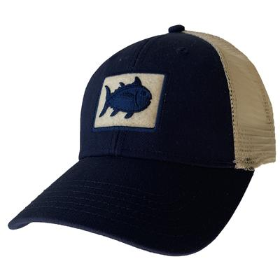 Navy Southern Tide Fly Patch Tracker Hat