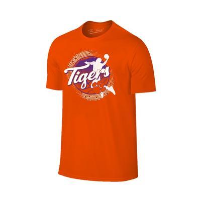 Clemson Basketball Player Icon T-shirt ORG