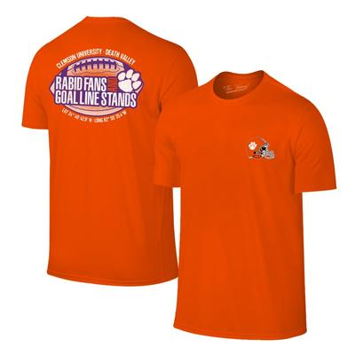 Clemson Rabid Fans and Goal Line Stands Tee ORG