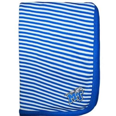 MTSU Infant Striped Knit Blanket