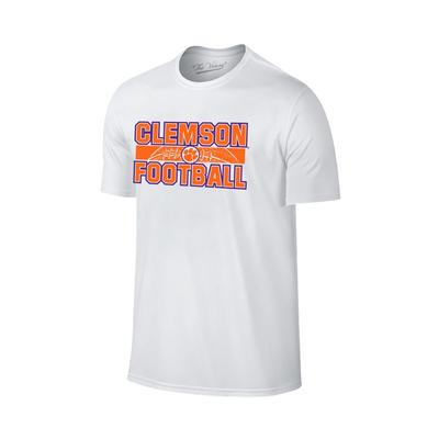 Clemson Football Laces Straight T-shirt