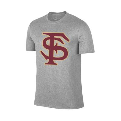 Florida State Giant FS Logo T-Shirt GREY