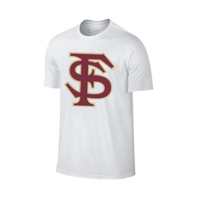 Florida State Giant FS Logo T-Shirt WHT