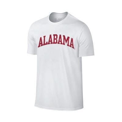 Alabama Women's Lined Basic Arch T-shirt WHITE