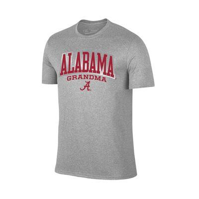 Alabama Women's Lined Arch Grandma T-shirt GREY