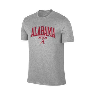Alabama Women's Lined Arch Mom T-shirt GREY