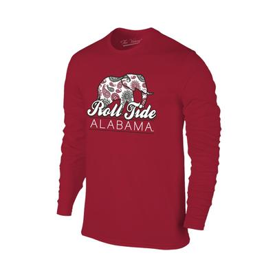 Alabama Women's Long Sleeve Paisley Elephant Tee