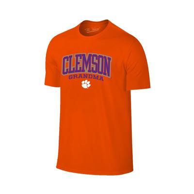 Clemson Women's Lined Arch Grandma T-shirt