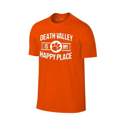 Clemson Women's Death Valley Happy Place T-shirt ORG