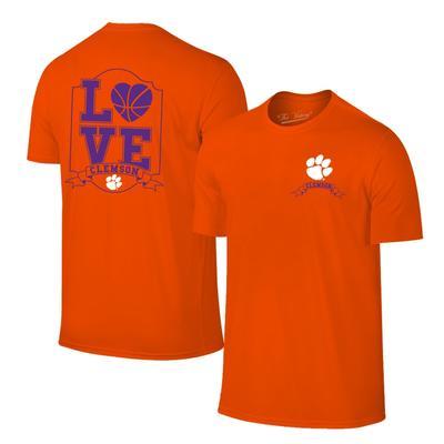 Clemson Women's Love Basketball T-shirt ORG