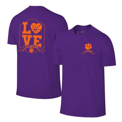Clemson Women's Love Basketball T-shirt