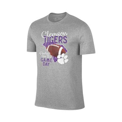 Clemson Women's Party Like It's Game Day Tee GREY