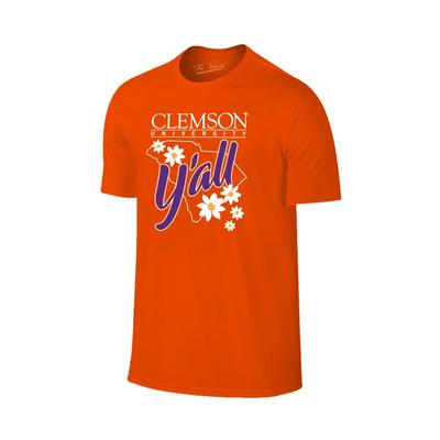 Clemson Women's Y'all State Outline T-shirt