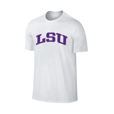 LSU Women's Lined Basic Arch T-shirt WHITE
