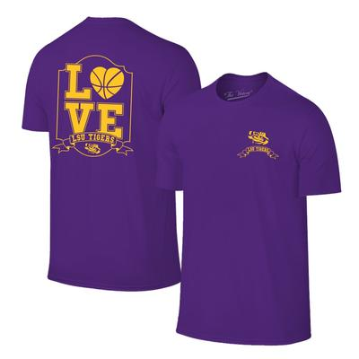 LSU Women's Love Basketball T-shirt