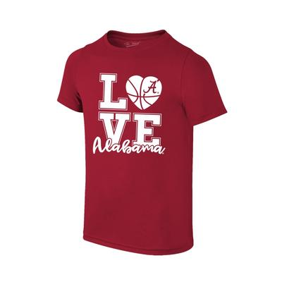 Alabama Youth Love Basketball T-Shirt