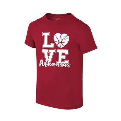 Arkansas Youth Love Basketball T-Shirt