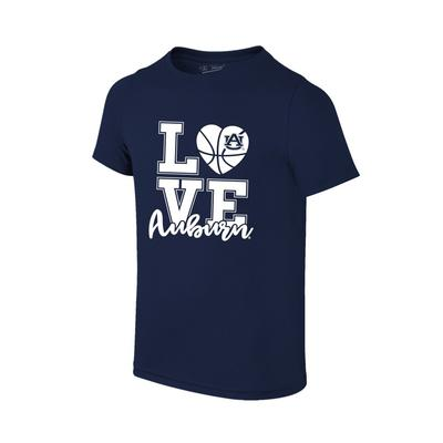 Auburn Youth Love Basketball T-Shirt