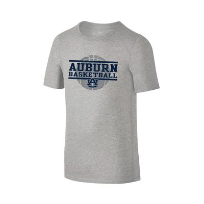 Auburn Youth Basketball Stack T-shirt GREY