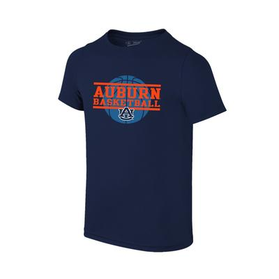 Auburn Youth Basketball Stack T-shirt NAVY