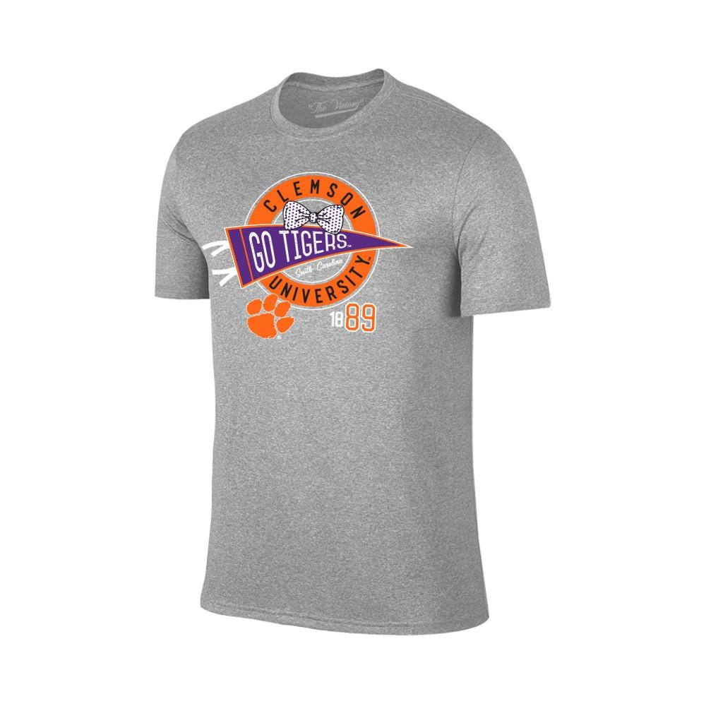 Clemson Youth Pennant Bowtie Circle Tee