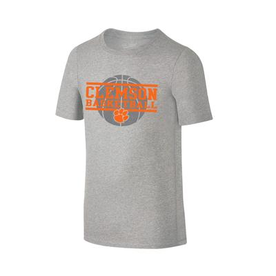 Clemson Youth Basketball Stack T-shirt GREY