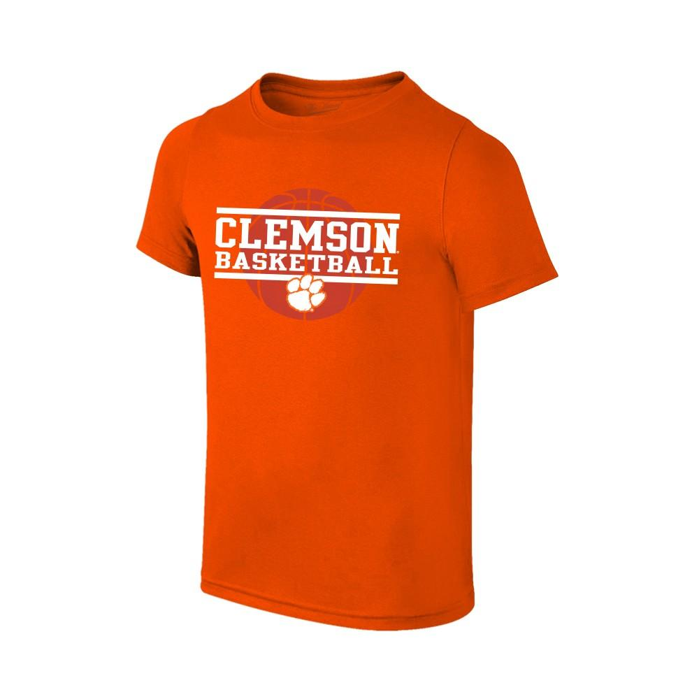 Clemson Youth Basketball Stack T- Shirt