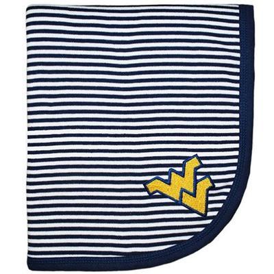 West Virginia Infant Striped Knit Blanket