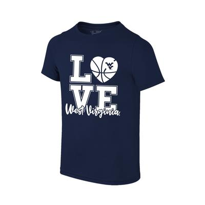 West Virginia Youth Love Basketball T-shirt