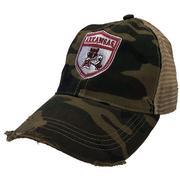Arkansas Retro Brand Vault Shield Trucker Cap