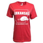 Arkansas The Razorback State Short Sleeve Tee