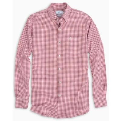 Alabama Southern Tide Gingham Intercoastal Woven Shirt