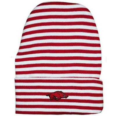Arkansas Striped Knit Cap